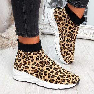 Leopard Sock Sneakers